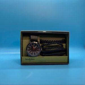Men's Mesh Strap Watch Set-Goodfellow & Co™Black